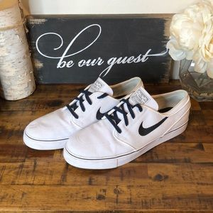 Nike White Canvas Stefan Janoski Shoe sz 12